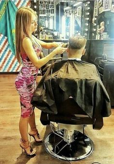 Bald Girl, Hair Tattoos, Barber Chair, Bowl Cut, Barber Shop, Hairdresser, Shaving, Sexy, Your Hair