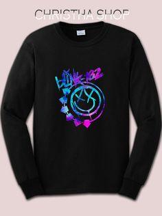Blink 182 SweatShirt Blink 182 Long Sleeve by ChristhaShop on Etsy // whit version