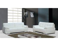 Siena Cream Leather Sofa Set