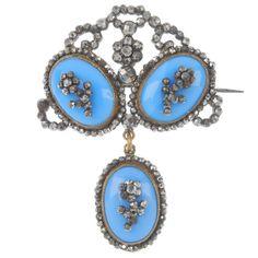 A late Georgian cut steel and paste brooch, circa 1820. : Lot 35