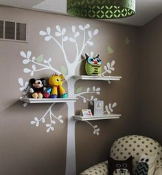 Shelving Tree Decal with Birds #SimpleShapes