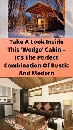 Take A #Look Inside This 'Wedge' #Cabin – It's The Perfect #Combination Of Rustic And #Modern