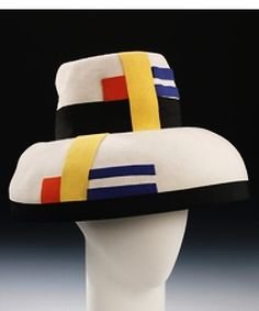 Mondrian Hat c. 1962. Wool and silk. Sally Victor, American 1905-1977.