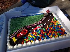 Race track cake boy birthday