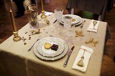 déco de table dorée
