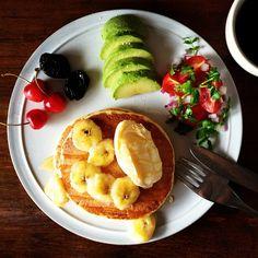 Today's breakfast. Pancakes with ice cream - @keiyamazaki- #webstagram