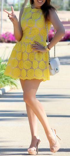 Yellow Sunflower Dress   #yellow #melloyellow #yellowfashions