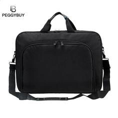 b1951821e0609 Portable Business Handbag Shoulder Laptop Notebook Bag Case Multifunction  for men women Durable
