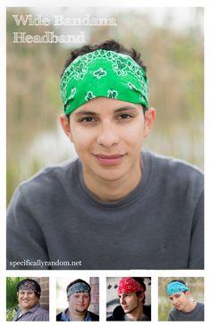 Headwear Headband 3D Arts Male Pattern Head Scarf Wrap Sweatband Sport Headscarves For Men Women