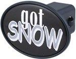 "Got Snow 2"" Trailer Hitch Receiver Cover"