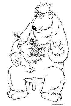 kleurplaat grote beer en kleine beer - Google zoeken