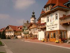 Frankenmuth, Michigan -- We've visited here many times!  Lots of Christmas stores and all-you-can-eat German food at the Bavarian Inn.