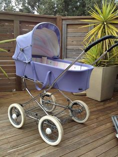 Love this vintage pram I just bought!  There seemed to be so much to find. http://www.geojono.com/