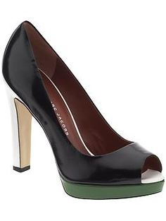 Could be great for Derby Day - sticking with the traditional black & white colours, but adding a pop of green. Heels are MARC by Marc Jacobs