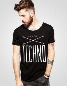 Mocno Techno T-shirt T Shirty, Man Fashion, Techno, Mens Tops, Shopping, Moda Masculina, Fashion Men, Men's Fashion Styles, Techno Music