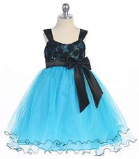 Girls Dress Style 0140- Sleeveless Tulle Dress with Sequin Bodice