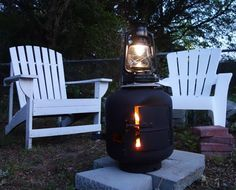The Stove Lite lantern converts heat from your wood stove into useable light.