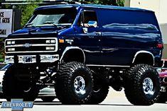 Lifted Trucks, Pickup Trucks, Classic Chevy Trucks, Classic Cars, Chevy Vans, 4x4 Wheels, 4x4 Van, Cool Vans, Custom Vans