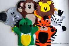 "Erratic Project Junkie: ""W"" is for Wild Animal Hand Puppets"