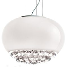 MIR Collection - Masiero Crystal Ball, White Lamps, House Design, Ceiling Lights, Crystals, Lighting, Pendant, Chandeliers, Glass