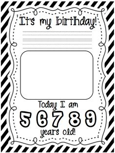 It's My Birthday class book from A Cupcake for the Teacher! I used to do this for my students with a page from everyone to wish them a happy b-day and made the cover look like a gift.