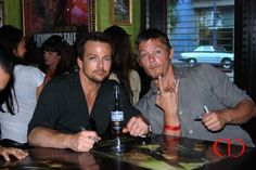 Norman Reedus and Sean Patrick Flanery (Boondock Saints!!!)