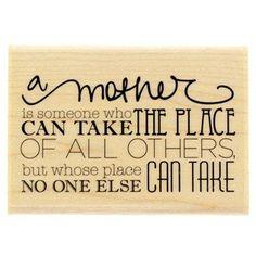 A Mother Is Rubber Stamp -- For more information, visit image link.
