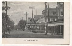 Main Street Trolley LYKENS PA Vintage Dauphin County Pennsylvania Postcard