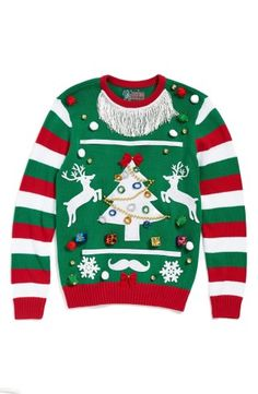 Ugly christmas sweater make your own green stripe sweater kit no