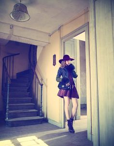 Rene and Radka Leather Skirt, Dior, Womens Fashion, Photography, Lens, Japan, Ideas, Leather Skirts, Photograph