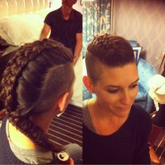 inside-out 5-strand French braid to fishtail with undercut