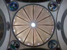 FILIPPO BRUNELLESCHI: Capilla Pazzi (Florencia). Vista interior de la cúpula.