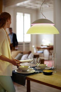 Buy Philips Hue Beyond LED Pendant Light Starter Kit from our Ceiling Lighting range at John Lewis & Partners. Home Lighting Design, Philips Hue, Led Pendant Lights, Works With Alexa, Incandescent Bulbs, Light Recipes, Led Lamp, Decoration, Trendy Tree