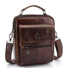 New Fashion Men Genuine Leather Messenger Bag Male Oil Wax Leather Cross  body Shoulder Bag First Layer Cowhide Men Bag Briefcase. Handbags ... 01a3c020f6217