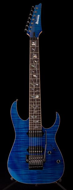 IBANEZ J Custom 2012 RG 7-String in Blue Zircon | Guitar Center. Made in Japan.     lessonator.com
