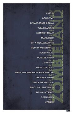 Minimalist Movie Poster: Zombieland by Jon E. Allen