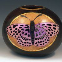 Gourd Luminary by Cindy Lee
