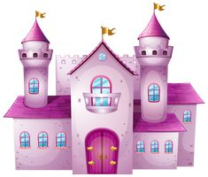 Purple clipart castle pencil and in color purple Pink Castle, Princess Castle, Disney Castle Silhouette, Castle Clipart, Cinderella Cartoon, Castle Cartoon, Minecraft Houses For Girls, Deco Stickers, Castle Drawing