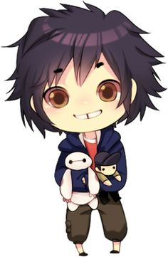 Hiro,Tadashi and Baymax ✿ Big Hero 6  #chibi