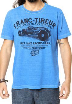 Camiseta Colcci Reta Azul - Marca Colcci