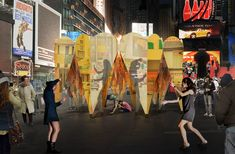 Collective-LOK's design for a circular pavilion made up of giant mirrored hearts has been selected as the winner of the 2016 Times Square Valentine. Kissing Booth, Immersive Experience, Wallpaper Magazine, Design Competitions, In The Heart, Designer Wallpaper, Ny Times, Pavilion, North America