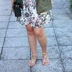 FabFashionaire.com Blog .:. Parka & Summer Dress featuring Ancient Greek Sandals