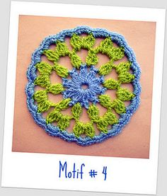 Motif # 4  Beyond the Square Crochet Motifs