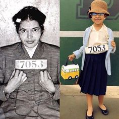 Best Halloween costume of For the novice on civil rights. That is a picture of Rosa Parks, credited with sparking the civil rights movement. Rosa Parks Information, Rosa Parks Pictures, History Projects, Art Projects, School Projects, Rosa Parks Biography, Wax Museum, Halloween Costumes For Kids, Halloween Halloween
