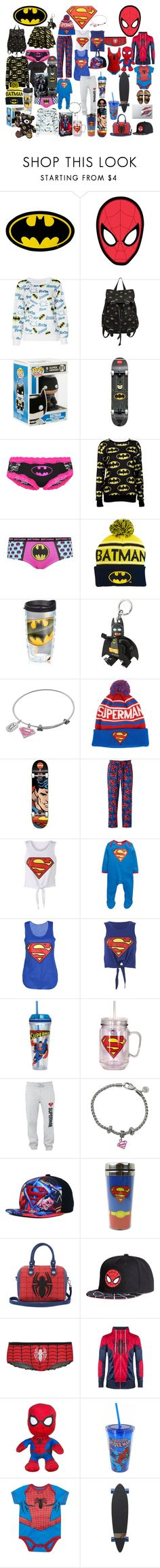 """Untitled #21"" by storyofabeautyblogger ❤ liked on Polyvore featuring Hot Topic, DC Comics, George, M:UK, Old Navy, Tervis, Marvel Comics, Disney, Marvel and Santa Cruz Skateboards"