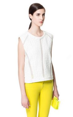 Image 1 of CROCODILE TEXTURED TOP from Zara