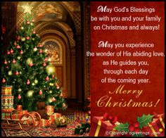 christmas quotes May Gods Blessings be with You and Your Family. merry christmas happy holidays seasons greetings christmas quote christmas poem christmas greeting christmas friend christmas family and friends