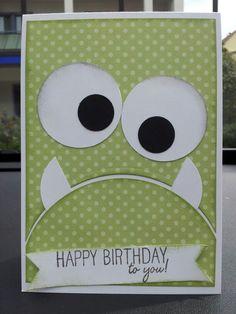 Monster Geburtstagskarte für meinen Neffen