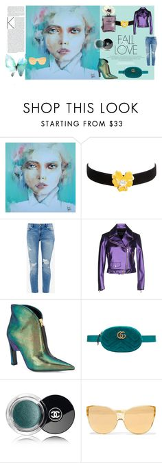 """FALL IN LOVE"" by maggie-osornio on Polyvore featuring moda, Kenneth Jay Lane, Ted Baker, Boutique Moschino, Marni, Gucci, Chanel y Linda Farrow"