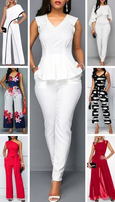 Jumpsuits are perfect for spring and summer. You can dress your jumpsuit up or down with accessories. Here are chic and cheap jumpsuits you'll love. African Wear Dresses, Latest African Fashion Dresses, African Print Fashion, Dress For Girl Child, Trendy Outfits, Fashion Outfits, Mode Vintage, Simple Dresses, Dress Outfits